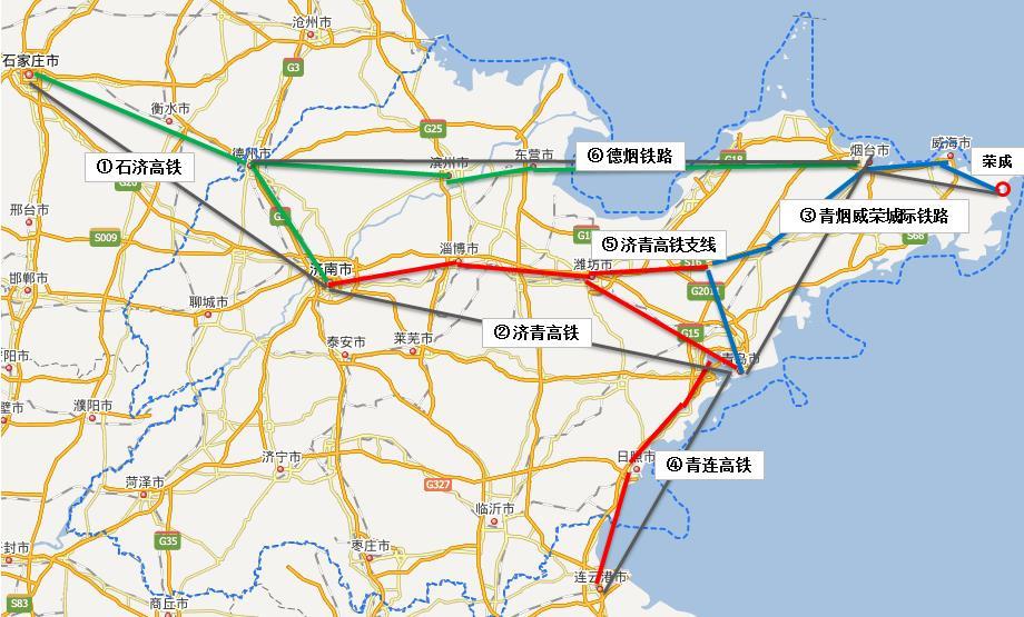 2030年山东高铁规划图 山东未来高铁规划图 2030年山东铁路规划图 山东