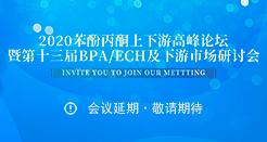 2020苯酚丙酮上下游高峰論壇暨第十三屆BPA/ECH及下游市場研討會